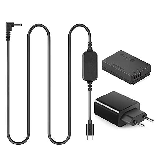 ACK-E12 USB Type-C Kabel LP-E12 Dummy-Batterie DR-E12 PD Adapter Kit für Canon EOS M2 M10 M50 M100 M200 Kamera