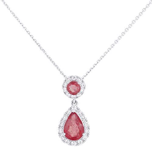 Naava - Women Ruby Pendant Necklace PP20191WRU