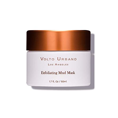 Volto Urbano Exfoliating Mud Mask   All Natural Face Mask For Your Skin Care Routine   Mud Face Masks For Exfoliation   Facial Mask With Volcanic Microcrystals