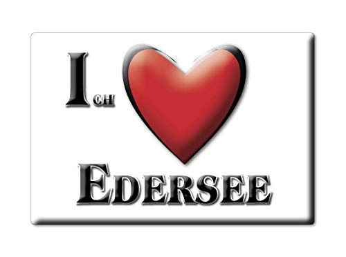 Enjoymagnets EDERSEE (HE) Souvenir Deutschland Hessen Fridge Magnet KÜHLSCHRANK Magnet ICH Liebe I Love