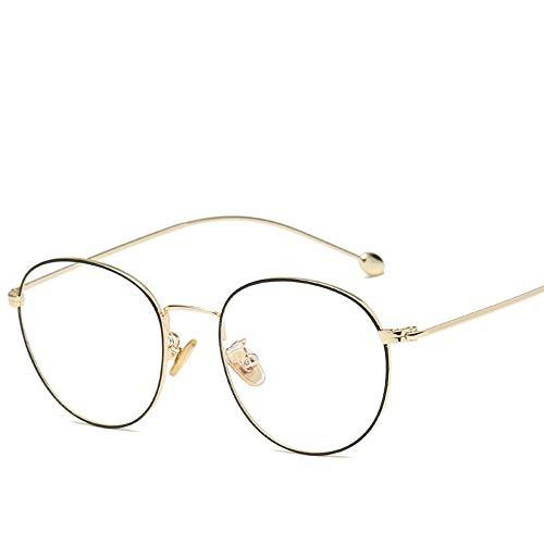 Ovale Anti Blauw Lichtbril Blokkerende Schermbril Voor Computerbescherming Dames Heren Lezen Vintage Klassieke Zonnebril Goud