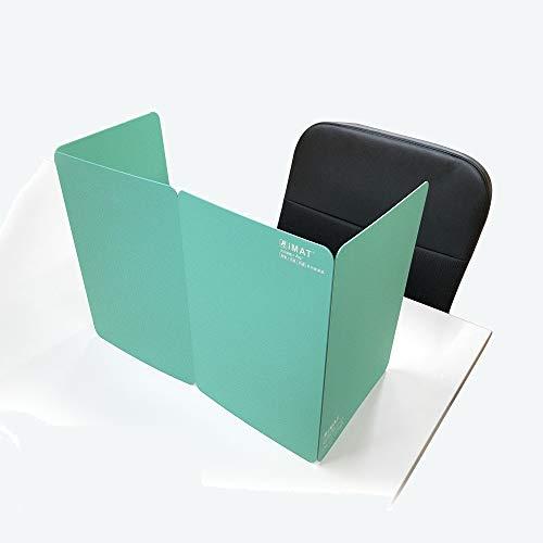三つ折り式 エコ無毒の抗菌保護隔離多機能カッティングマット ポータブル折りテーブルマット(35x96cm) (ライトグリーン)
