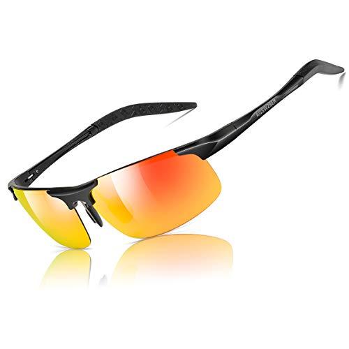 aisswzber男装体育偏光太阳镜驾驶金属框架防紫外线太阳镜男性8177