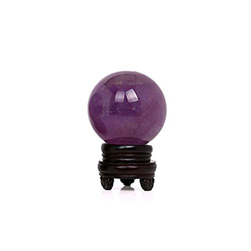 Amatista Bola Curación Gema Violeta Piedra Decoración Hogar Sphere Pulido Cristal Ligero Manualidades Regalo Arte Brillante Portátil Om (2cm) - como Imagen Mostrar, 2cm