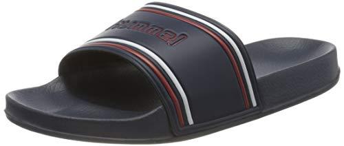 Hummel Unisex-Erwachsene Pool Slide Retro 206575 Dusch- und Badeschuhe, Blau (Dress Blues 8628), 38 EU