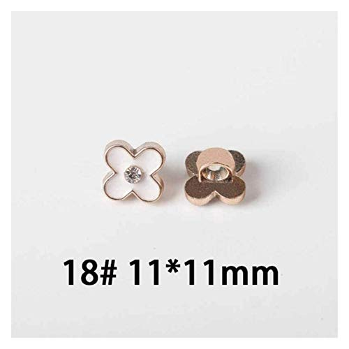 NIANXINN Gemelos 50 PCS Flower Flower Resin Button Camisa con Diamantes de Perlas Cardigan de Gasa Pearl Botones Decorativos Botones de Ropa (Color : No18 11mm)