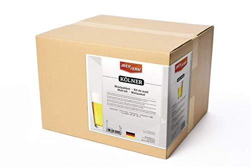 Fertige Malzmischung Kölner zum Brauen von 20 Liter Kölschbier - Malzpaket zum Bier brauen - ungeschrotet