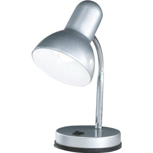 Globo Tischleuchte, silber/chrom, Metall Kunststoff, Schalter 1 x 60W E27 230V, H: 30 cm 2487