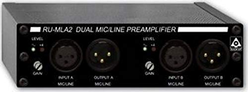 Best Deals! RDL RU-MLA2 Audio Preamplifier 2 CH, Detachable IO Terminal Blocks, Gain Trim on Each In...