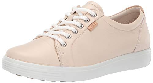 Ecco Damen Soft 7 Sneaker, Elfenbein (Vanilla Metallic 51381), 43 EU