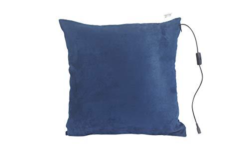 Comfy Massagekissen mit Wärmefunktion | Farbe Marine | 40 x 40 cm | Entspannt Rücken, Nacken, Kopf & Schultern