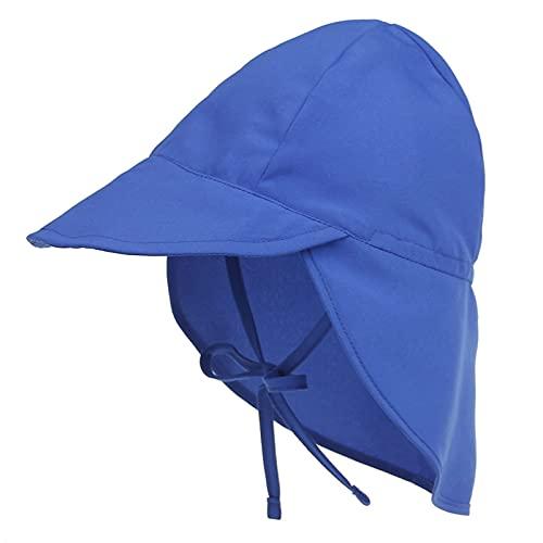 iSunday Unisex bebé multifuncional sombrero plegable niños sombrero de sol niño cubo sombreros con desmontable cuello solapa azul