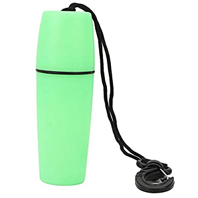 Keenso Surfing Water Container,Portable Sealing Water Container Bottle with Buckle,for Scuba Diving,Snorkeling,Surfing,Kayaking, Canoeing,Swimming,Boating(Green)