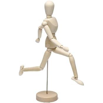 ArtStyle デッサン人形 木製 モデル ドール 美術 スケッチ 人形 (30cm)