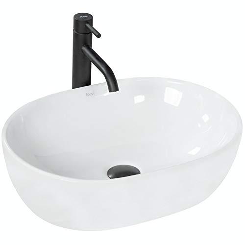 VBChome Waschbecken 48 x 34 klein Keramik Oval Waschtisch Handwaschbecken AUFSATZWASCHBECKEN WASCHSCHALE GÄSTE WC (AM48)