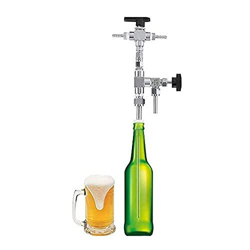 N / E Relleno de Botella de presión de Contador de Acero Inoxidable 304, Kit de elaboración de Cerveza de Cerveza CO2 CO2, Varita embotelladora para Vino de Cerveza