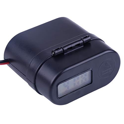 Joyfulstore - 12-24V Black Motorcycle Led Waterproof Handlebar Cigarette Lighter Dual JFSSb Charger Switch Voltmeter