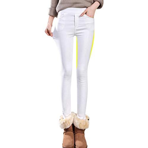 FRAUIT Leggings Donna Termico Pile Caldo Elasticizzato Pantaloni Lunghi Invernali Leggins Taglie Forti Vita Alta Pantaloni Ragazza Elasticizzati Strech Pantalone