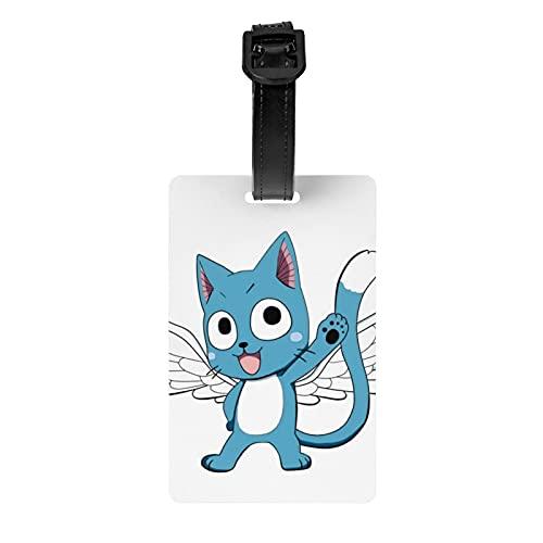 Ficha De Natsu Y Happy etiqueta de equipaje de protección de privacidad etiqueta de bolsa de viaje etiqueta maleta