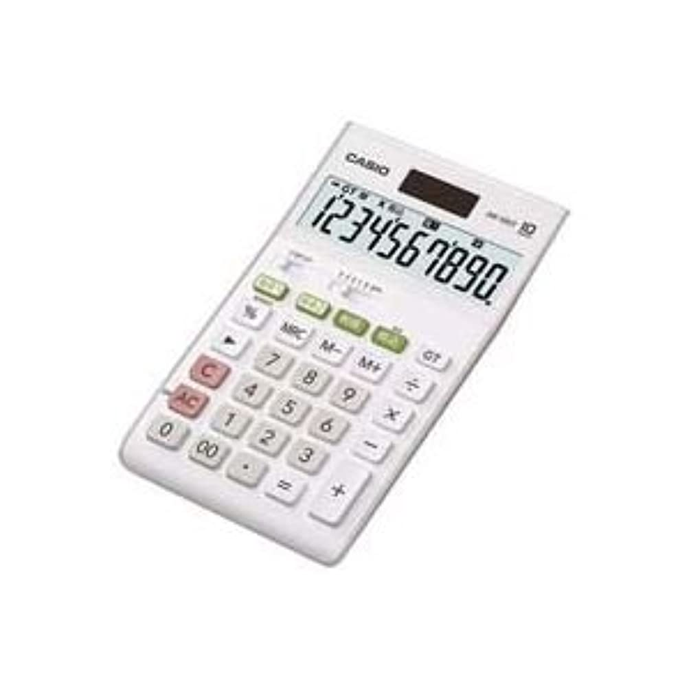 噴出する道徳のビーズ(業務用2セット)カシオ CASIO W税率電卓ジャストサイズ10桁 JW-100T-N [簡易パッケージ品]