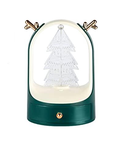YTEU Joyería Caja de Almacenamiento joyería Caja de Almacenamiento joyería de Navidad Caja de Almacenamiento de joyería giratoria