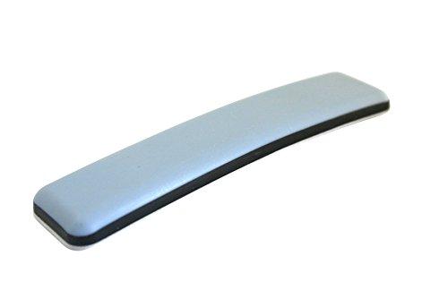 GLEITGUT 12 x Teflongleiter selbstklebend rechteckig 24 x 100 mm - Möbelgleiter mit PTFE-Gleitfläche für Freischwinger mit Flachstahl