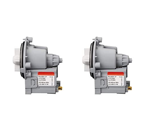 MIRTUX 2 x Bomba de Desagüe Universal magnética para diferentes Modelos de Lavadoras: LG, Otsein, Samsung, Zanussi, Corberó, Gorenje y Askoll. Modelo M231 / M332 / T2124