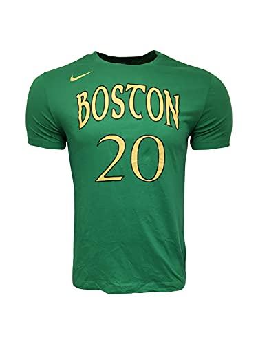 Nike Men's Gordon Hayward #20 Boston Celtics T-Shirt Cotton/Polyester Blend Basketball BV8747 Green (Large)