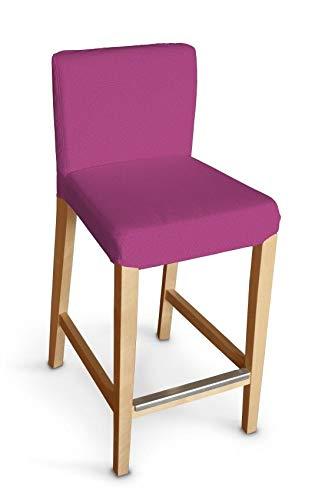 Dekoria Henriksdal Husse für Barhocker Husse Stuhlbezug,Stuhlkissen passend für IKEA Modell Henriksdal Amarant