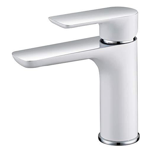 Baño Lavabo Grifo Monomando Blanco Moderno Sanlingo