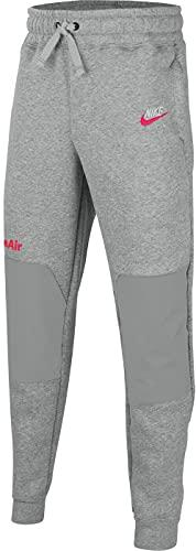NIKE NSW Air Pantalones Lt Smoke Grey/Bright Crimson S