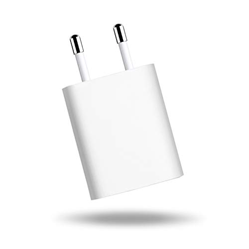 BTRONGROUP Carica Batterie Spina compatibile per iPhone 5 5C 5S 6 SE 6S 7 8 X XS XR XS Adattatore USB 1A 5W