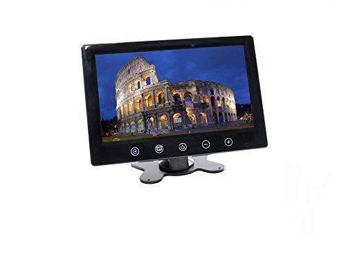 Vetrineinrete Monitor lcd 9 pollici a colori telecamera videosorveglianza con telecomando 9' con connessione rca per macchina auto casa camper G22