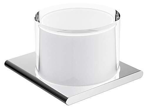 KEUCO Lotion-Spender Metall verchromt und Kristall-Glas, Inhalt nachfüllbar ca. 150ml, Seifenspender für Bad und Gäste-WC, Wandmontage, Edition 400