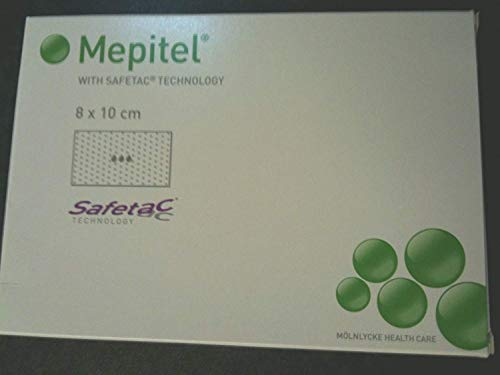 Mepitel Silikonwundauflage steril,8 x 10 cm (5 Stck.)