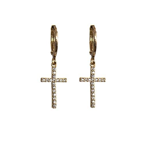LASE C9, Pendientes para Mujer y Niña. Diferentes Modelos de Aros, Perlas y Estrellas. Joyas Elegantes para Mujer, Complementos de Moda y Tendencia. (17 Gold)
