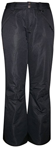 Pulse Women's Technical Insulated Snow Ski Pants (X-Large, Black)