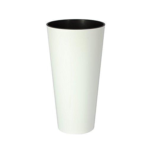 Zanvic Maceta Alta Mod Ar 300, Blanco, 30X30X57.2 cm