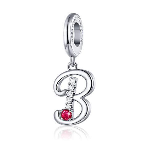 Européenne Argent 925 CZ Snowflake Charm Perles Pendentif Fit Bracelet Collier Chaîne