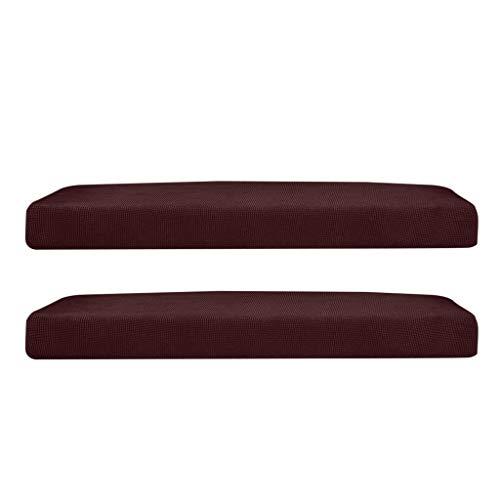 joyMerit 2 Stücke Stretchy Sofa Futon Sitzbank Kissen Schonbezug Couch Schonbezug Ersatz Gartenmöbel Braun Größe La