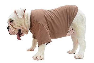 lovelonglong Bulldog Clothes Dog Clothing Blank T-Shirt Tee Shirts for French Bulldog English Bulldog American Pit Bull Pugs 100% Cotton Skin Care Coffee B-S