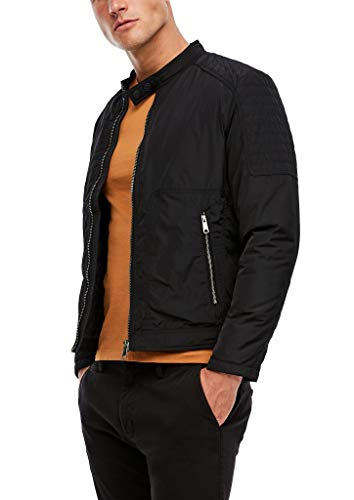 s.Oliver Herren Biker-Jacke in Nylon-Optik Black M