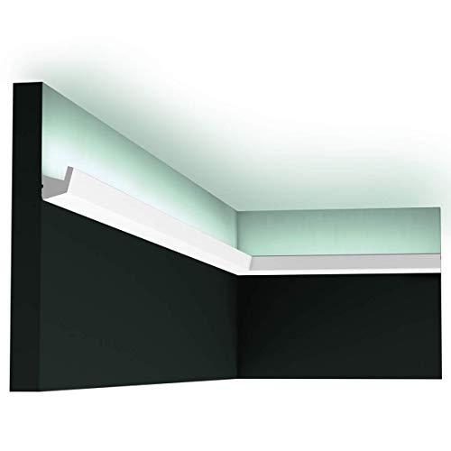 Orac Decor - Pack 4 mètres CX189 Corniche pour éclairage indirect Orac Decor - 2,7x2,7x200cm (h x p x L) - moulure décorative polymère