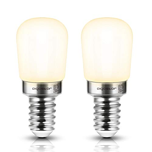 E14 LED Lampe T26, Kühlschranklampe, 2 W (ersetzt 14 W), warmweiß, 2er-Pack