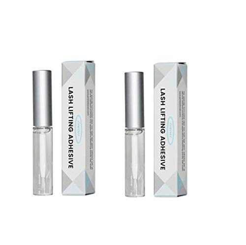 Lomansa Lash Lifting Adhesive 2pcs, 5pcs (5ml 0.16 oz) Eyelash Perming Rod Fix Glue For Eyelas Curl (2 pcs)
