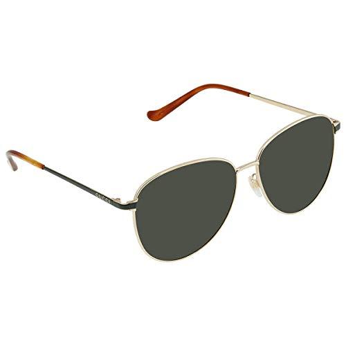 Gucci Sonnenbrille GG0573SK 003 Man Sonnenbrille Farbe Goldgrün Linsengröße 60 mm