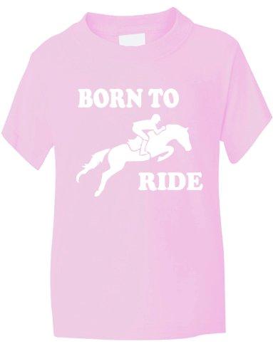 ~montar a caballo Born To de trineo y /~de cabeza de caballo de niño/con texto en T-de uniforme de Barcelona niña de Skylanders~1-13