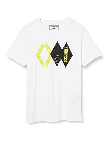 JACK & JONES Herren T-Shirt 2er Pack, Weiß (Slim - Packed With Black Combo White), M