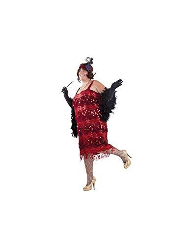 DISBACANAL Disfraz charlestn Talla Grande - Negro, XL