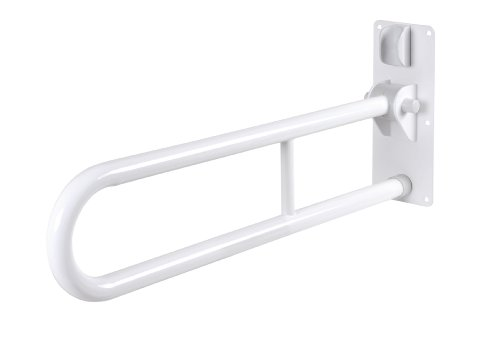 GAH-Alberts 140304 Stützklappgriff - klappbar, Stahl, weiß kunststoffbeschichtet, 750 mm
